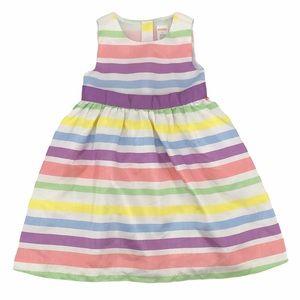 Gymboree Pastel Striped Satin Dress Size 3T